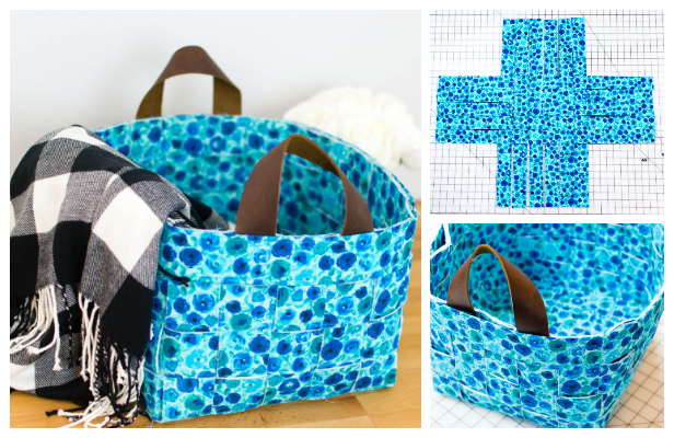 Fun Woven Basket Free Sewing Pattern