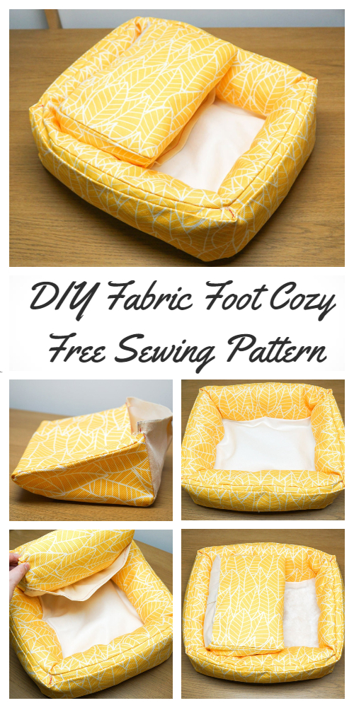 DIY Fabric Foot Cozy Free Sewing Pattern & Tutorial