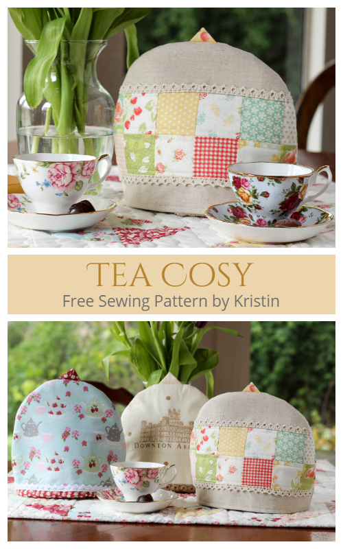 DIY Quilted Fabric Teapot Cozy Free Sewing Pattern