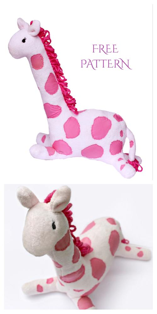 DIY Fabric Toy Giraffe Free Sewing Patterns & Tutorialserns f2