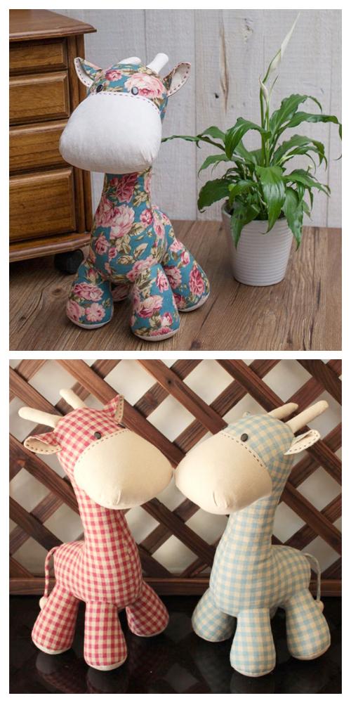 DIY Fabric Toy Giraffe Free Sewing Patterns & Tutorials