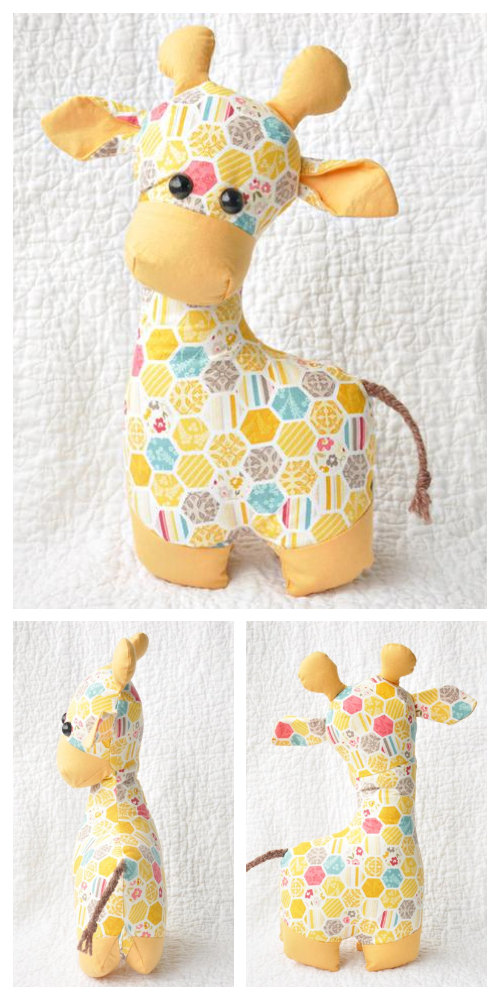 DIY Fabric Toy Giraffe Sewing Patterns & Tutorials