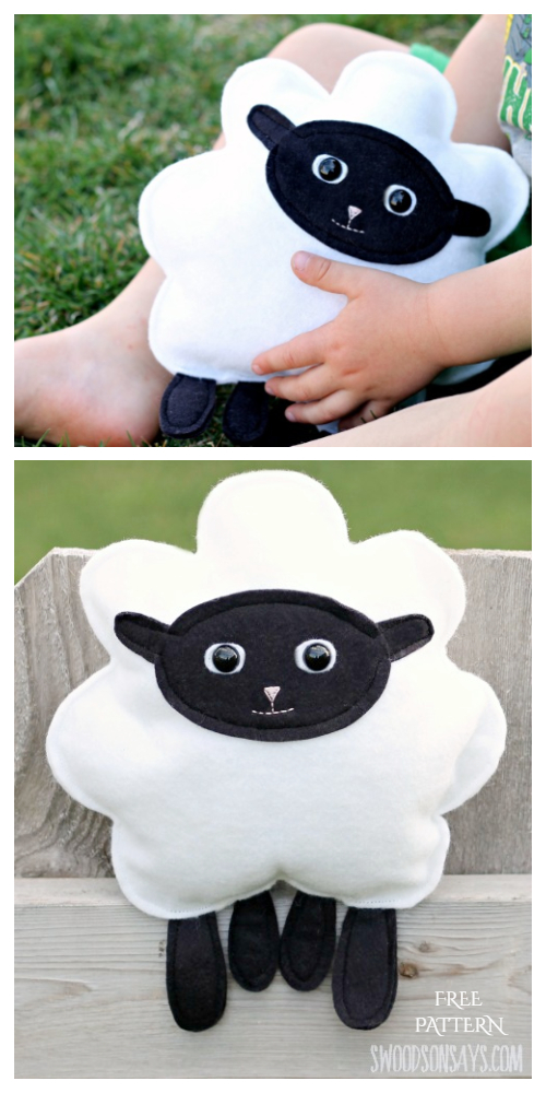 DIY Fabric Toy Sheep Free Sewing Pattern & Tutorial