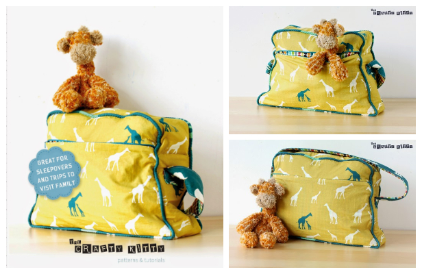 DIY Retro Overnight Bag Free Sewing Pattern and Tutorial