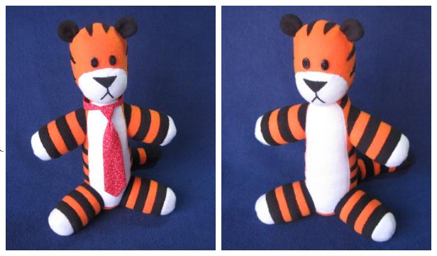 DIY Fabric Stuffed Hobbes Free Sewing Pattern & Tutorial