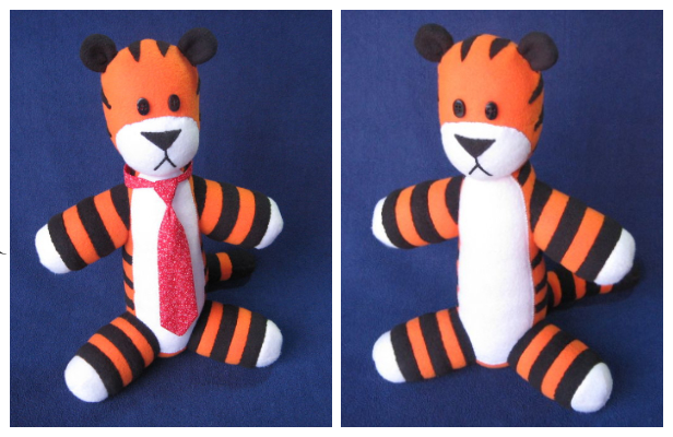 DIY Fabric Stuffed Hobbes Free Sewing Pattern & Tutorial