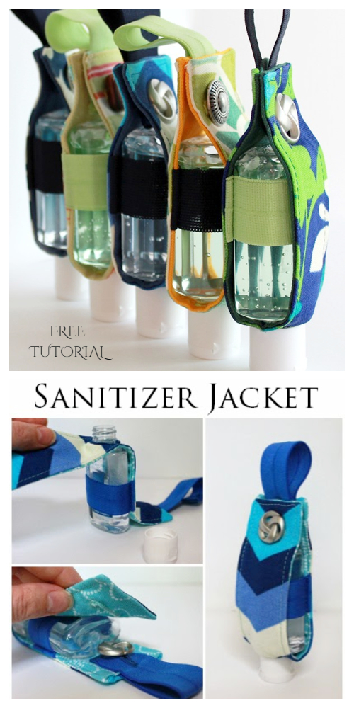 DIY Fabric Hand Sanitizer Cozy/Holder Free Sewing Patterns and Tutorials