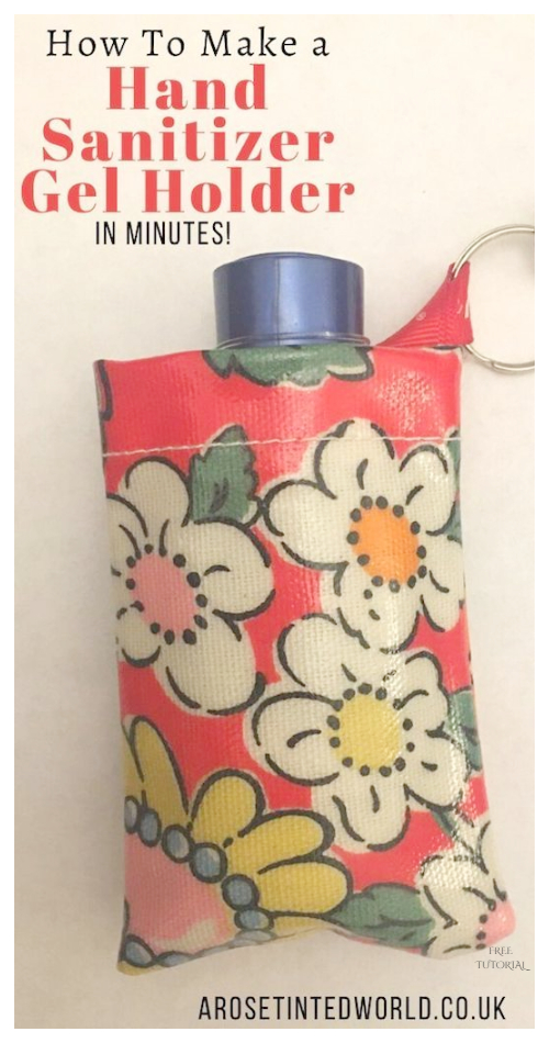 DIY Fabric Hand Sanitizer Holder Free Sewing Patterns and Tutorials