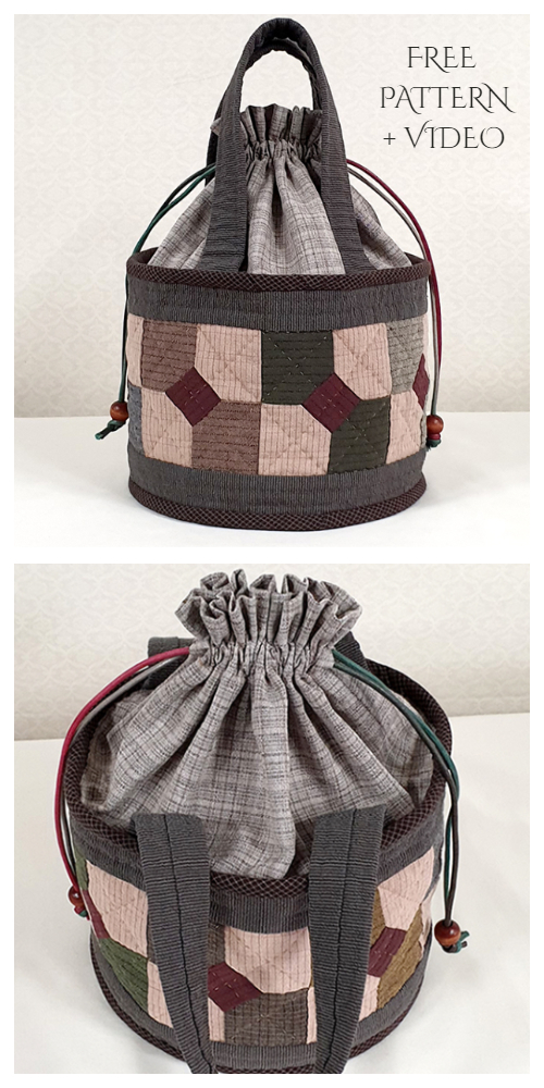 DIY Fabric Quilted Bag Free Sewing Pattern + Video