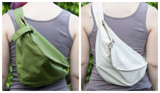 DIY Fabric Sling Hobo Bag Free Sewing Pattern & Tutorial