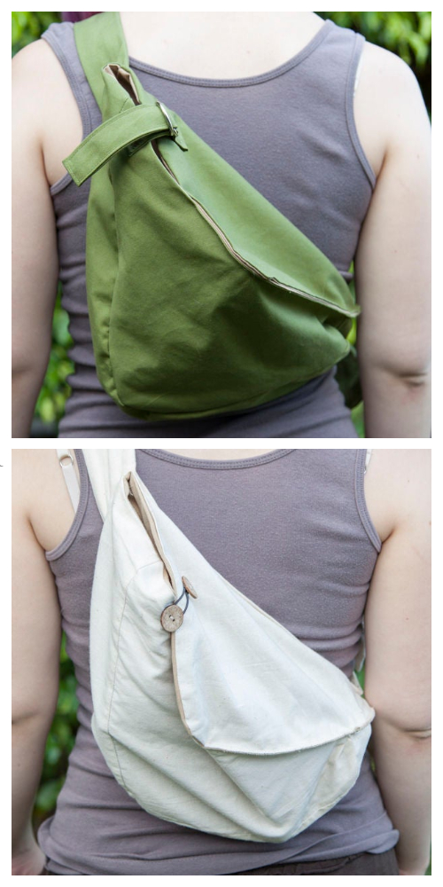DIY Fabric Sling Hobo Bag Free Sewing Pattern & Tutorial