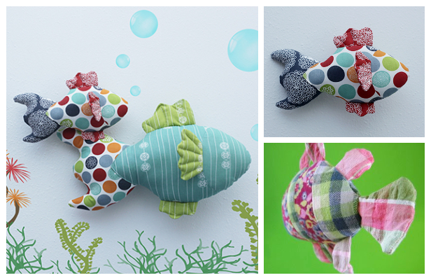 DIY Fabric Toy Fish Free Sewing Patterns & Tutorial