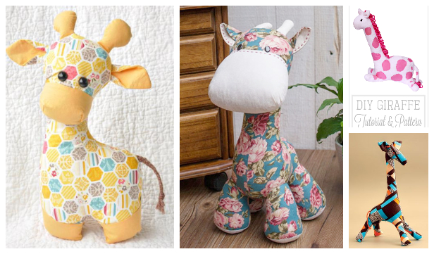 DIY Fabric Toy Giraffe Free Sewing Patterns & Paid