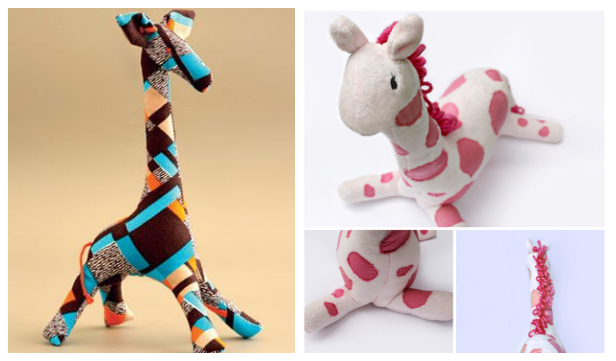 DIY Fabric Toy Giraffe Free Sewing Patterns & Tutorials