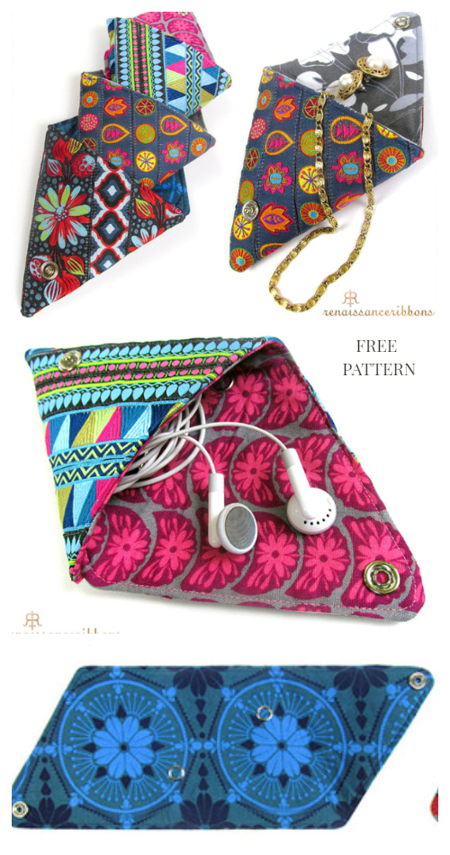 DIY Origami Coin Pouch Free Sewing Pattern