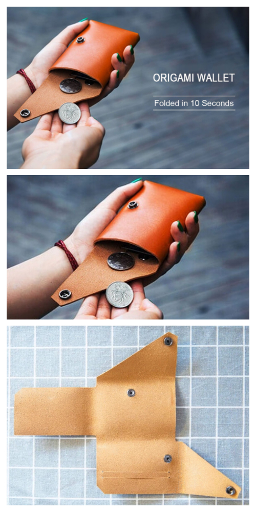 DIY Origami Coin Pouch Free Sewing Pattern & Tutorial