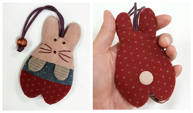 DIY Quilt Bunny Key Pouch Free Sewing Pattern + Video
