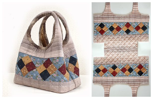DIY Two-Way Quilt Handbag Free Sewing Pattern + Video
