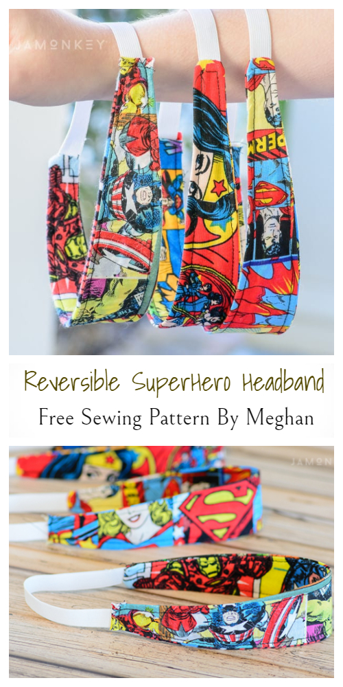 Buttoned Fabric Headband for Mask Free Sewing Patterns
