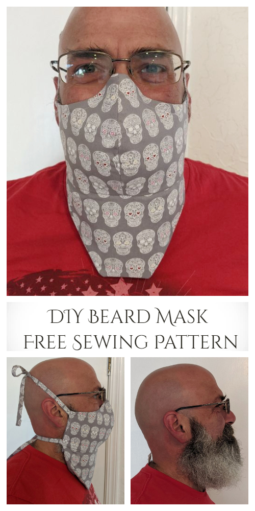DIY Beard Face Mask Free Sewing Pattern and Tutorial