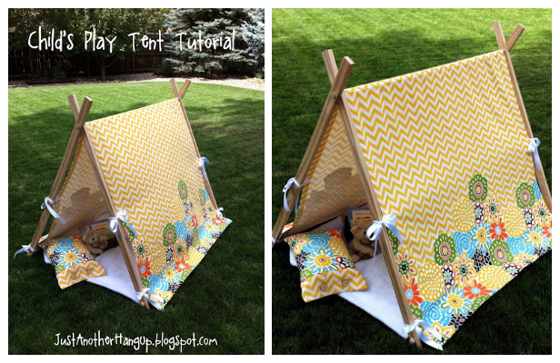 DIY Fabric Kids Tent Free Sewing Pattern and Tutorial