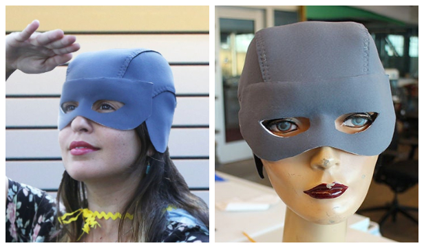 DIY Fabric Super Hero Helmet Free Sewing Pattern & Tutorial