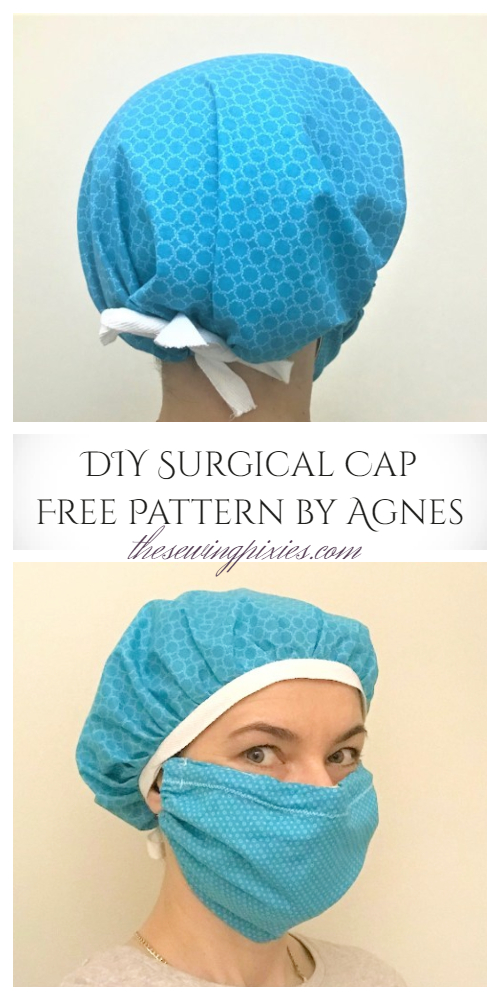 DIY Fabric Surgical Scrub Cap Free Sewing Patterns