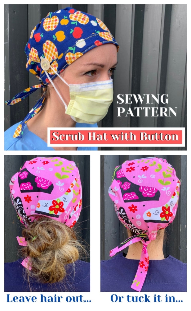 DIY Fabric Surgical Scrub Cap Sewing Patterns + Video