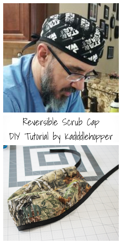 DIY Reversible Scrub Cap Free Sewing Tutorial