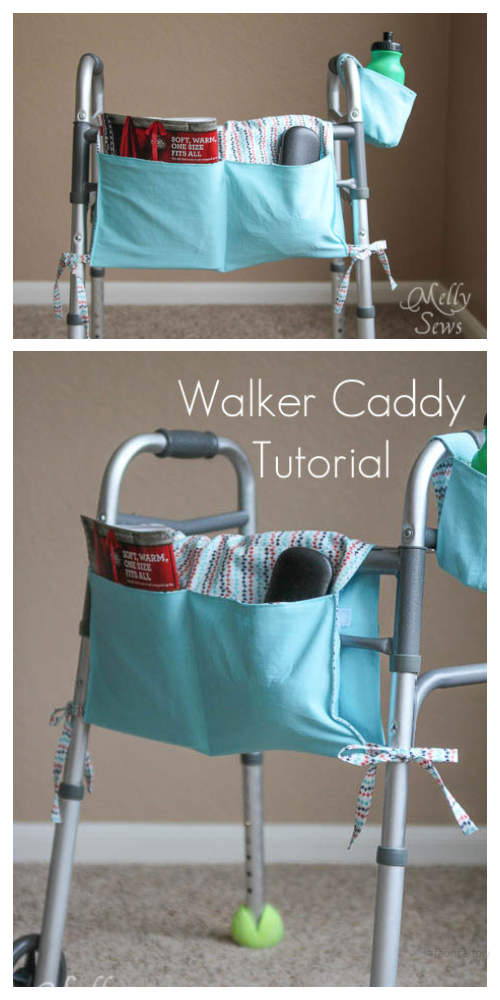DIY Fabric Walker Caddy Free Sewing Patterns and Tutorials