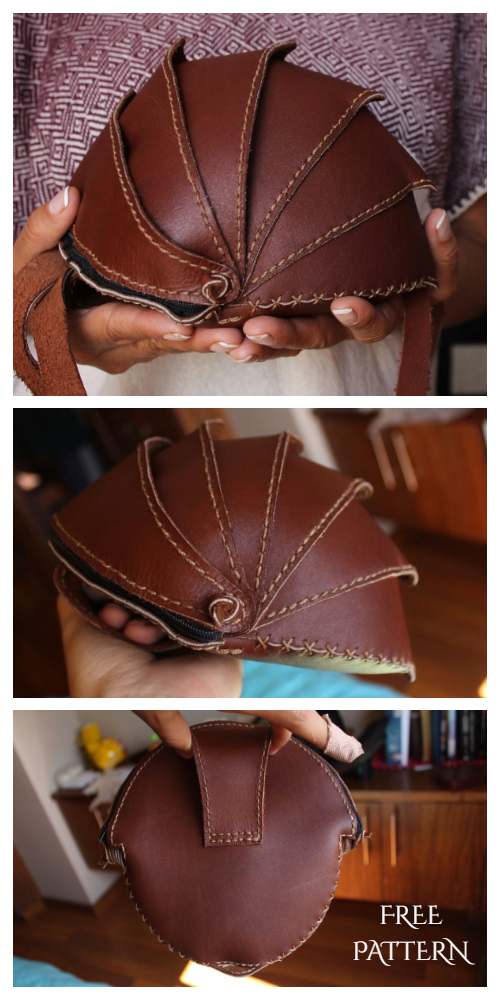 DIY Leather Beetle Bag Free Sewing Pattern & Tutorial