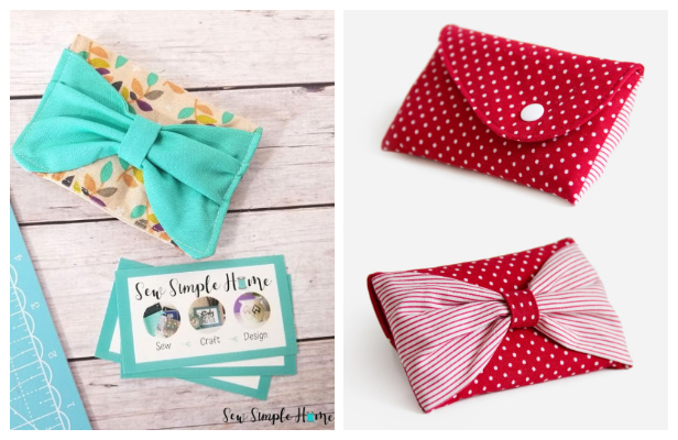 DIY Mini Fabric Bow Pouch Free Sewing Patterns + Video Tutorial