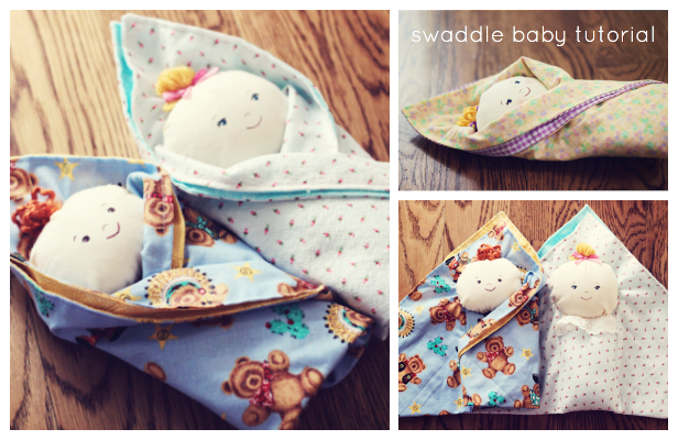 DIY Swaddle Baby Doll Free Sewing Pattern and Tutorial