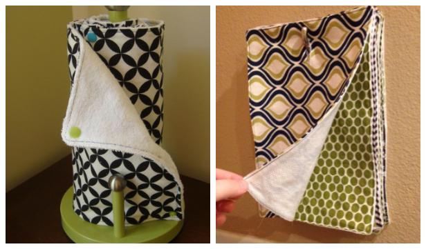 Reusable Fabric Unpaper Towel DIY Tutorials