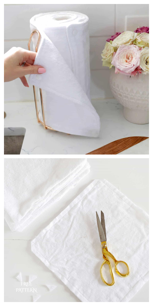 Reusable Fabric Unpaper Towel DIY Tutorials