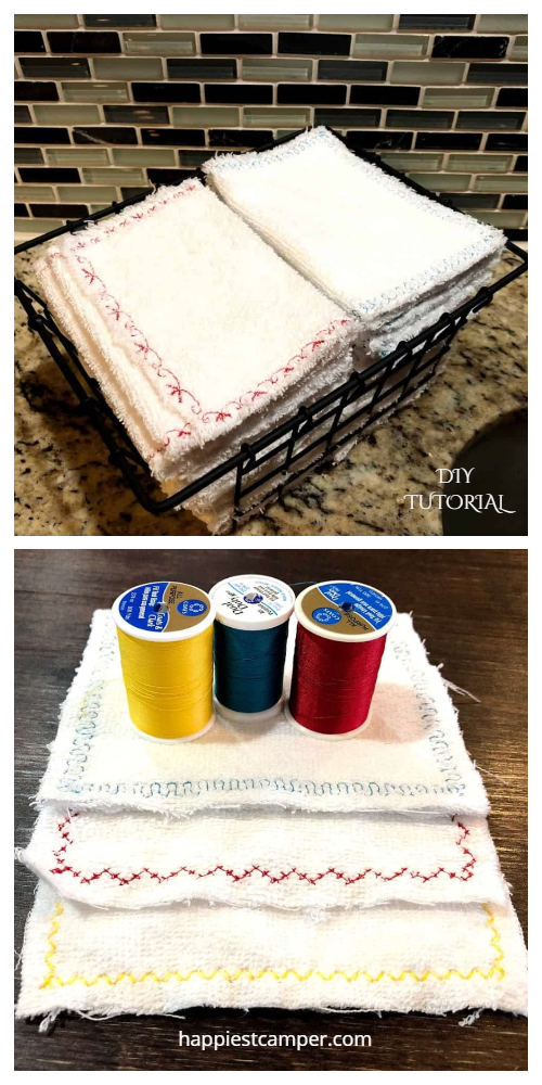Zero Waste Fabric Unpaper Towel DIY Tutorials