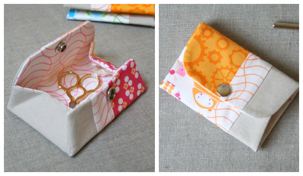 DIY Fabric Snappy Coin Purse Free Sewing Pattern and Tutorial