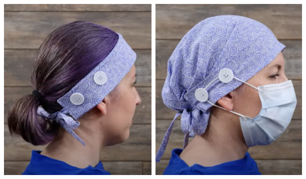 Convertible Fabric Headband to Scrub Cap DIY Tutorial + Video