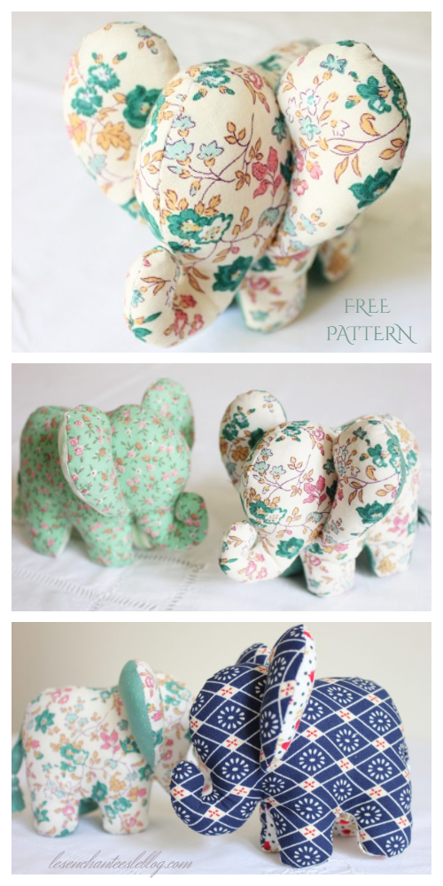 DIY 3D Fabric Elephant Toy Comforter Free Sewing Patterns