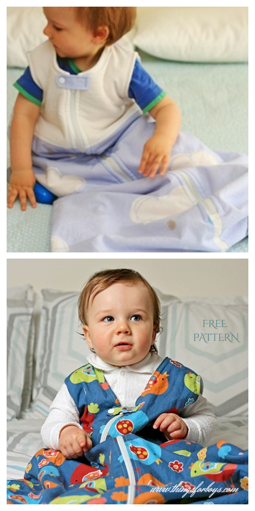 DIY Fabric Baby Sleeping Sack Free Sewing Patterns
