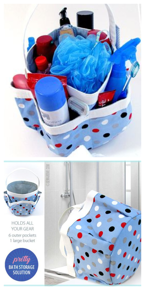 DIY Fabric Bath Caddy Free Sewing Pattern