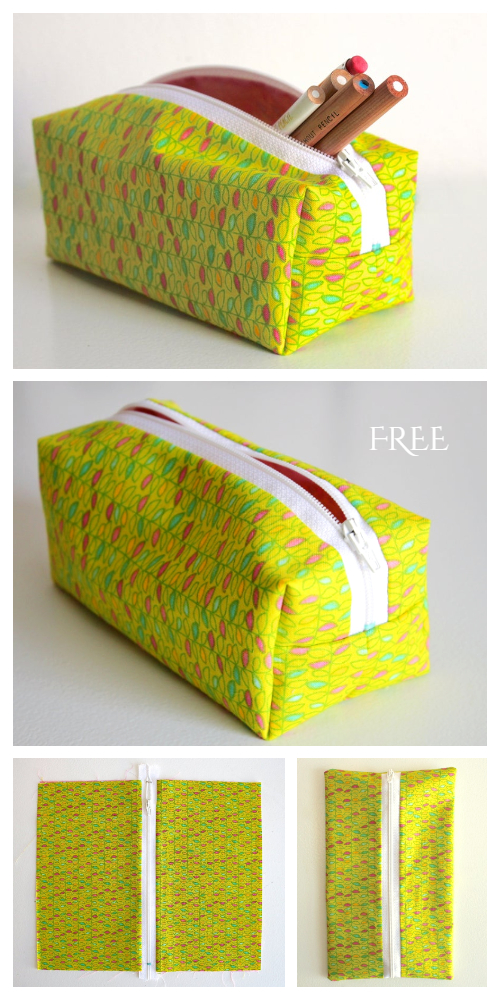 Zippered Pencil Case Free Sewing Pattern + DIY Tutorial