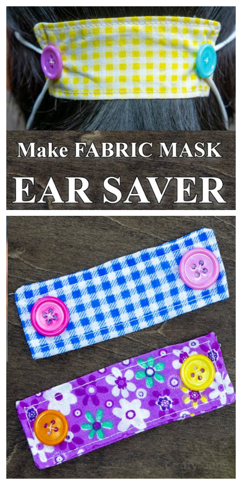 DIY Fabric Face Mask Ear Saver Free Sewing Patterns + Video