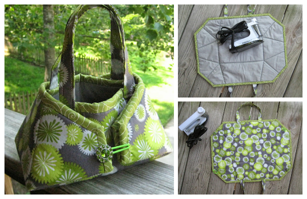 DIY Fabric Iron Caddy Tote Free Sewing Pattern + Video