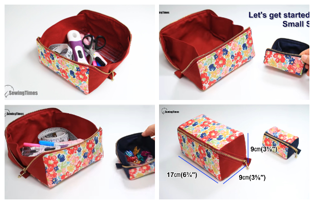 DIY Fabric Tray Pouch Free Sewing Patterns + Video