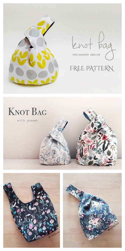 DIY Reversible Japanese Knot Bag Free Sewing Patterns