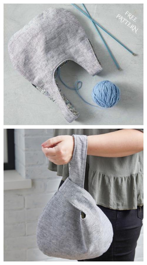 DIY Reversible Japanese Knot Bag Free Sewing Patterns