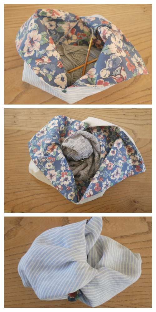 DIY Lined Fabric Origami Bento Bag Free Sewing Patterns