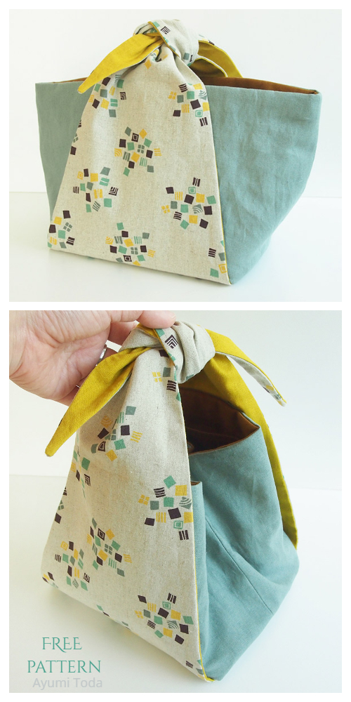 DIY Tied Handle Handbag Free Sewing Patterns