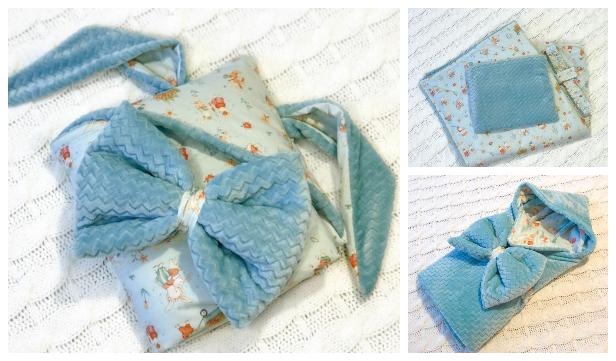 DIY Reversible Fabric Baby Sleeping Bag Blanket Free Sewing Pattern